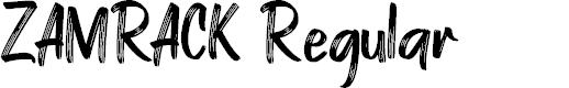 Preview image for ZAMRACK Regular Font