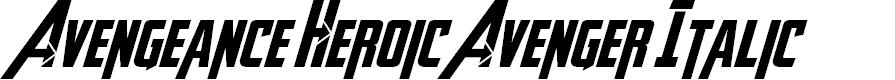 Preview image for Avengeance Heroic Avenger Italic