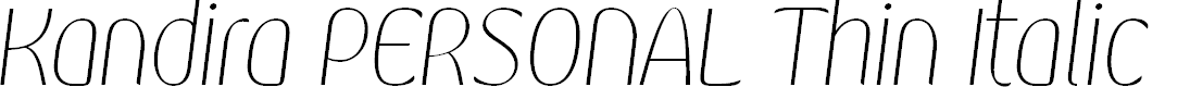Preview image for Kandira PERSONAL Thin Italic