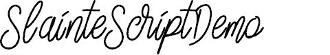 Preview image for SlainteScriptDemo Font