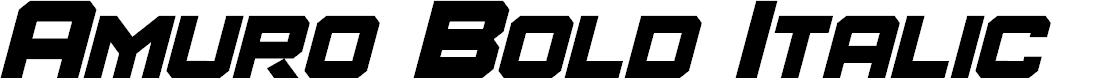 Preview image for Amuro Bold Italic