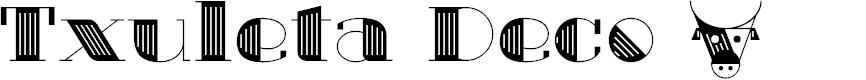 Preview image for Txuleta Deco Font