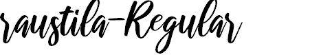 Preview image for raustila-Regular Font