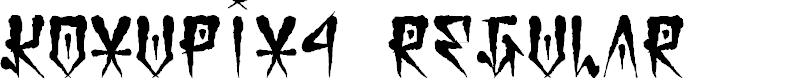 Preview image for Koxu_Pix_4 Regular Font