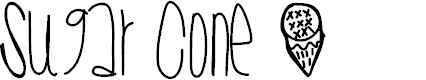 Preview image for SugarCone Font
