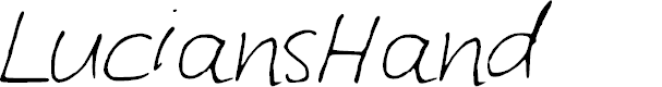 Preview image for LuciansHand Font