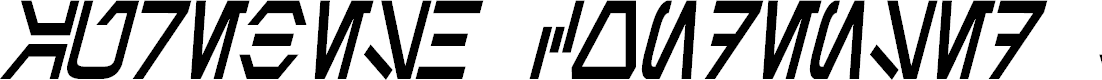 Preview image for Aurebesh Condensed Bold Italic