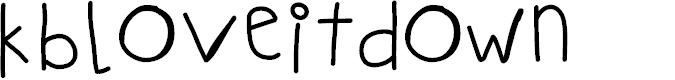 Preview image for KBLOVEITDOWN Font