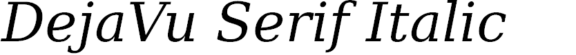 Preview image for DejaVu Serif Italic