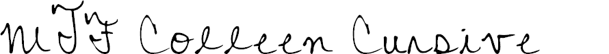 Preview image for MTF Colleen Cursive Font