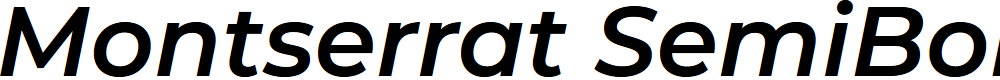 Preview image for Montserrat SemiBold Italic