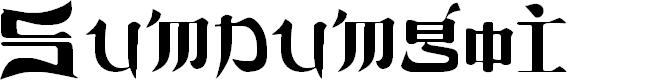 Preview image for Sumdumgoi Regular Font