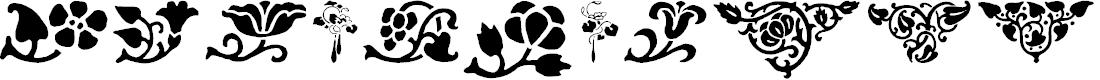Preview image for PrintersOrnamentsOne Font