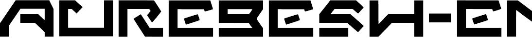 Preview image for Aurebesh_english Regular Font