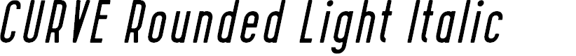 Preview image for CURVE Rounded Light Italic