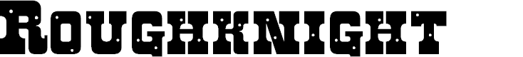 Preview image for Roughknight Font
