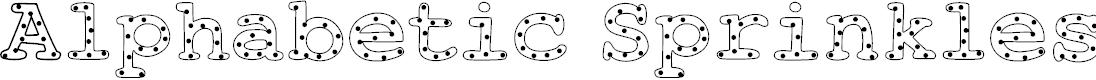 Preview image for AlphabeticSprinklesLight Font