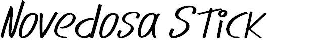 Preview image for Novedosa Stick Italic Font