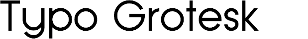 Preview image for Typo Grotesk Font