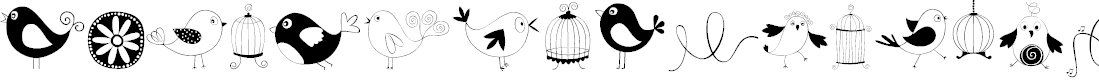 Preview image for DOODLE DINGS 1 Birds Cages Font