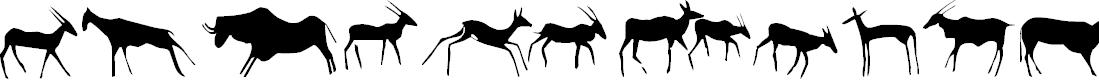 Preview image for Afrika RockArt F Animals1 Regular Font