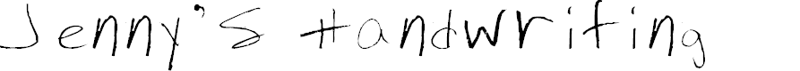 Preview image for Jenny's Handwriting