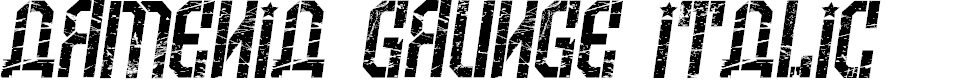 Preview image for Armenia Grunge Italic