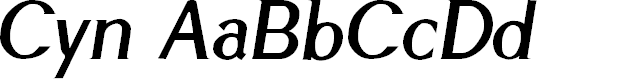 Preview image for Cyn Italic Bold