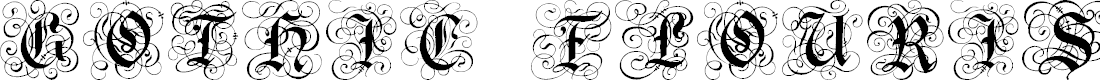Preview image for Gothic Flourish Font