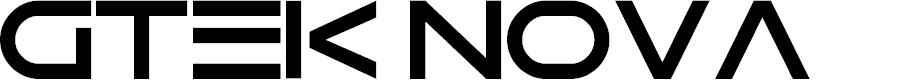 Preview image for Gtek Nova Font