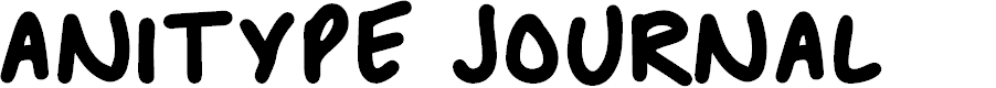 Preview image for Anitype Journal 1 Font
