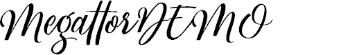 Preview image for MegattorDEMO Font