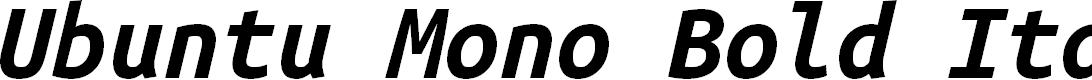 Preview image for Ubuntu Mono Bold Italic