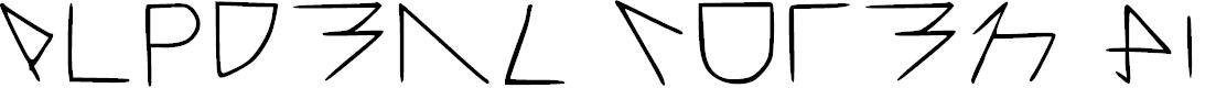 Preview image for Alpderz Vuten Hiergrage Regular Font