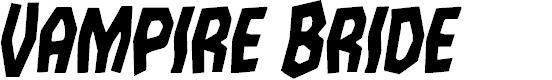 Preview image for Vampire Bride Condensed Italic