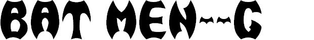 Preview image for BAT MEN__G Font