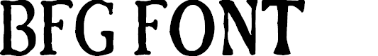 Preview image for BFG Font