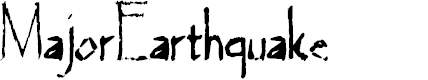 Preview image for MajorEarthquake Font