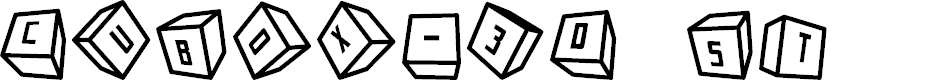 Preview image for Cubox-3D ST Font