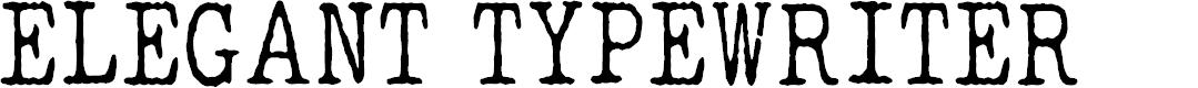 Preview image for ELEGANT TYPEWRITER Font