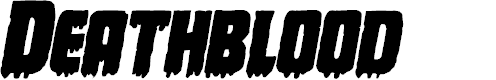 Preview image for Deathblood Bold Italic