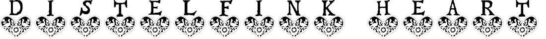 Preview image for Distelfink Heart Font