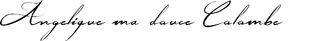 Preview image for Angelique ma douce Colombe Font