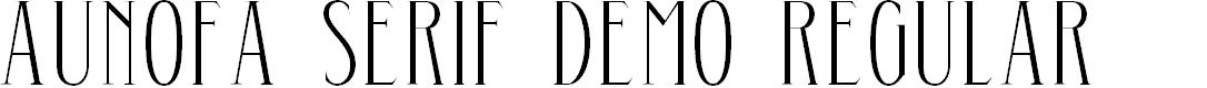 Preview image for Aunofa Serif DEMO Regular