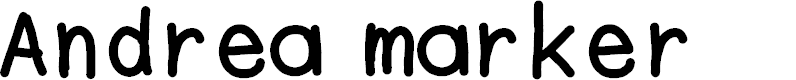 Preview image for Andrea marker Font