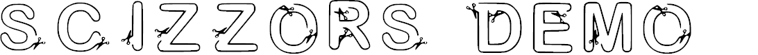Preview image for Scizzors Demo Regular Font