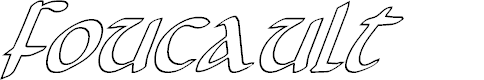 Preview image for Foucault Outline Italic