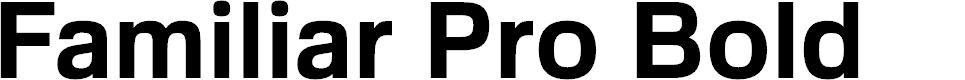 Preview image for FamiliarPro-Bold