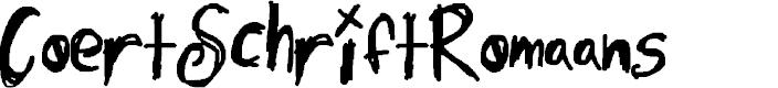 Preview image for CoertSchriftRomaans Font