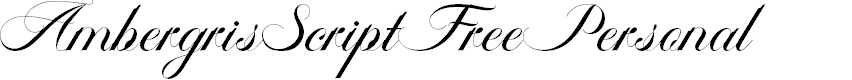 Preview image for AmbergrisScriptFreePersonal Font